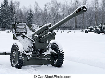 Russian gun in Prokhorovka. This is place of largest tank battle in the history of WW II. Russia