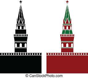 russian tower. stencil