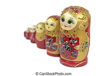 Russian traditional dolls Matrioshka - Matryoshka or ...