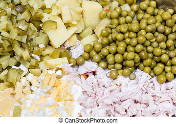 Russian traditional salad ingredient