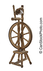 Russian traditional spinning wheel