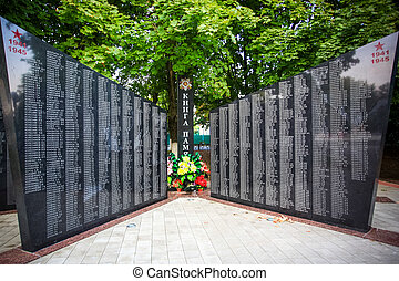 Russian veterans two wall memorial