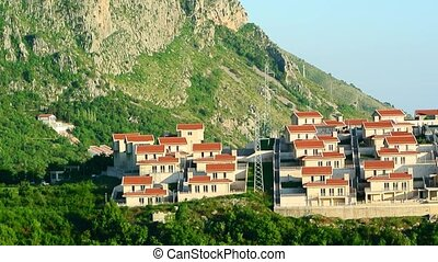 Russian village in Montenegro. Settlement for the rich on...