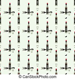 russian vokda seamless pattern