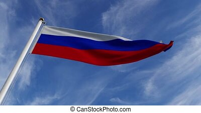 Russian Waving Flag Or Tricolor Of Russia Federation In ...