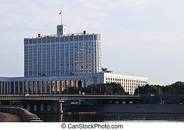 Russian White House - government building in Moscow