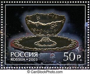 russie, -, environ, 2003:, a, timbre, imprimé, dans, russie,...