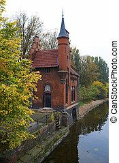 russie vieille, kaliningrad., architecture, allemand