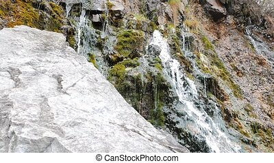 russie, waterfall., appareil-photo., lisser, mouvement