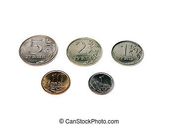 russische, geldmünzen, satz