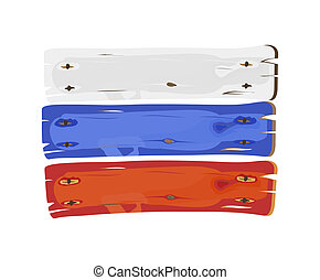 russische , geverfde, vlag, hout