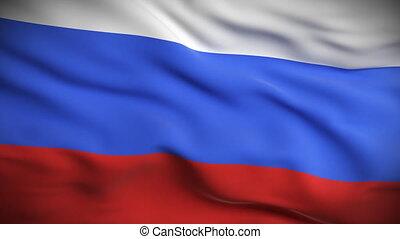 russische , hd., vlag, looped.