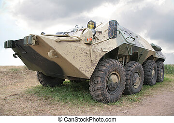 russische, infanterie, gepanzert, kämpfen, fahrzeug