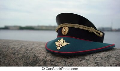 russische, officer's, kappe, armee