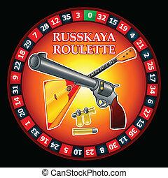 russische roulette, russkaya, ruletka|