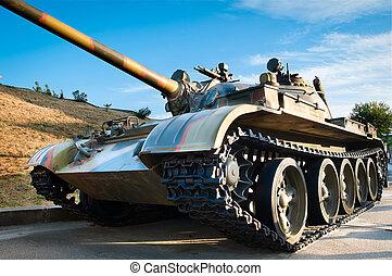 russische, schlacht, tank