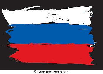 russische vlag, grunge