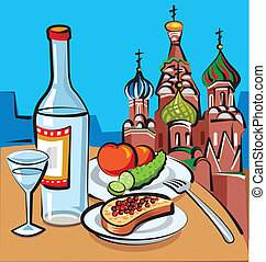 russische , wodka