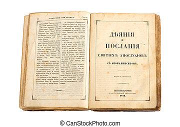 russo, antiga, bíblia