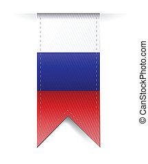 russo, bandeira, desenho, ilustração
