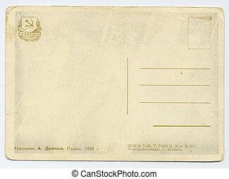 russo, cartão postal, antigas