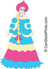 russo, cartone animato, principessa