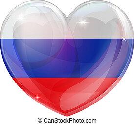russo, coração, bandeira, amor