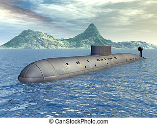 russo, nuclear, submarino
