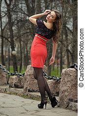 russo, retrato, mulher