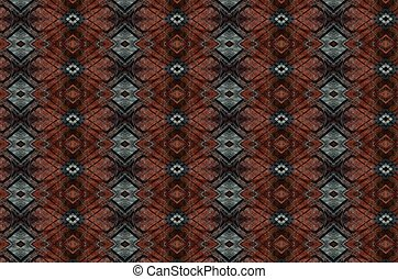 Rust and gray jacquard patterns