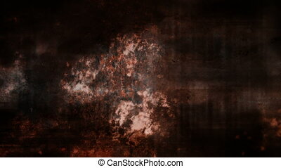 Rust color grunge horror loop - Animated background rust...