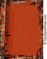 Rust Grunge Background - Computer illustration; black, rust...