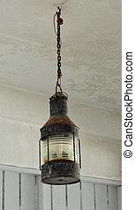 Rust hanging lamp