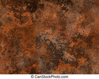 Rust metal - Abstract generated rust metal surface ...