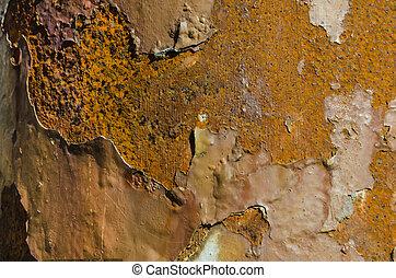 rust peeling paint
