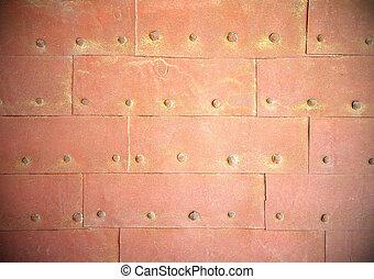 Rust steel metal texture with rivets