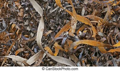 rust texture shavings metal mountain plant background waste...
