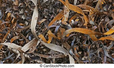 rust texture shavings mountain metal plant background waste