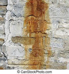 Rusted Concrete White Wall