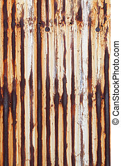Rusted corrugated metal wall