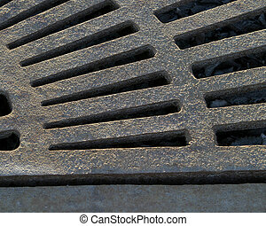 Rusted Grate - A rusted water grate.