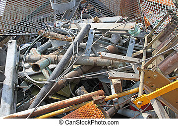 waste of ferrous material in a landfill