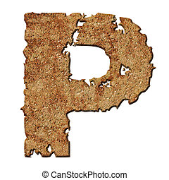 Rusted letters. - Rusty letters with torn edge isolated on ...