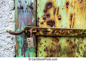 rusted lock of a door - rusted lock a door, a symbol of...