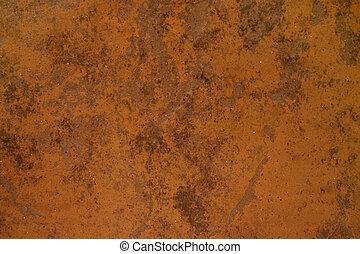 Brown rusted material