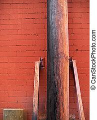 Rusted Metal Post