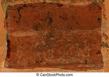 rusted sheet