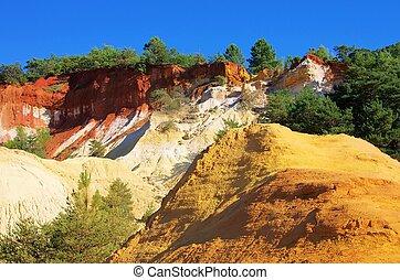 Rustel ocre rocks
