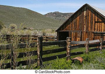 Rustic Abandoned Barn - Taken in the Sierras - a rustic,...