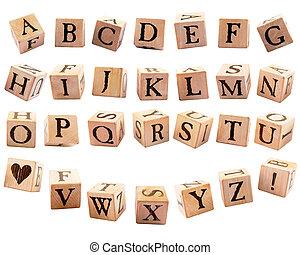 Rustic Alphabet Blocks #1
